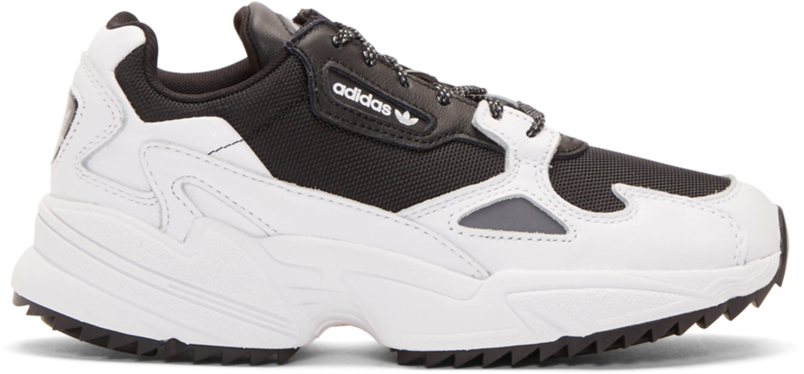 Black & White Falcon Trail Sneakers
