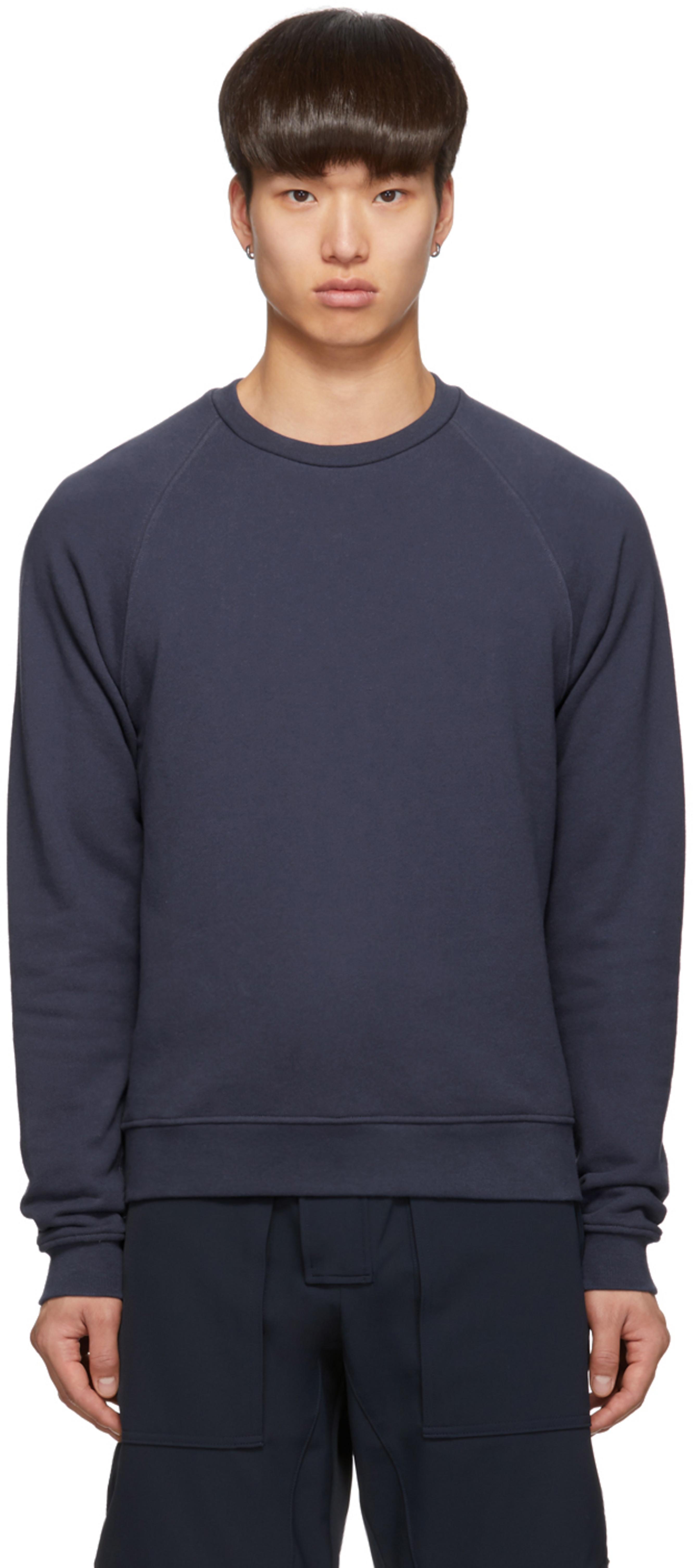ef8b41b818 Navy Raglan Crew Sweatshirt