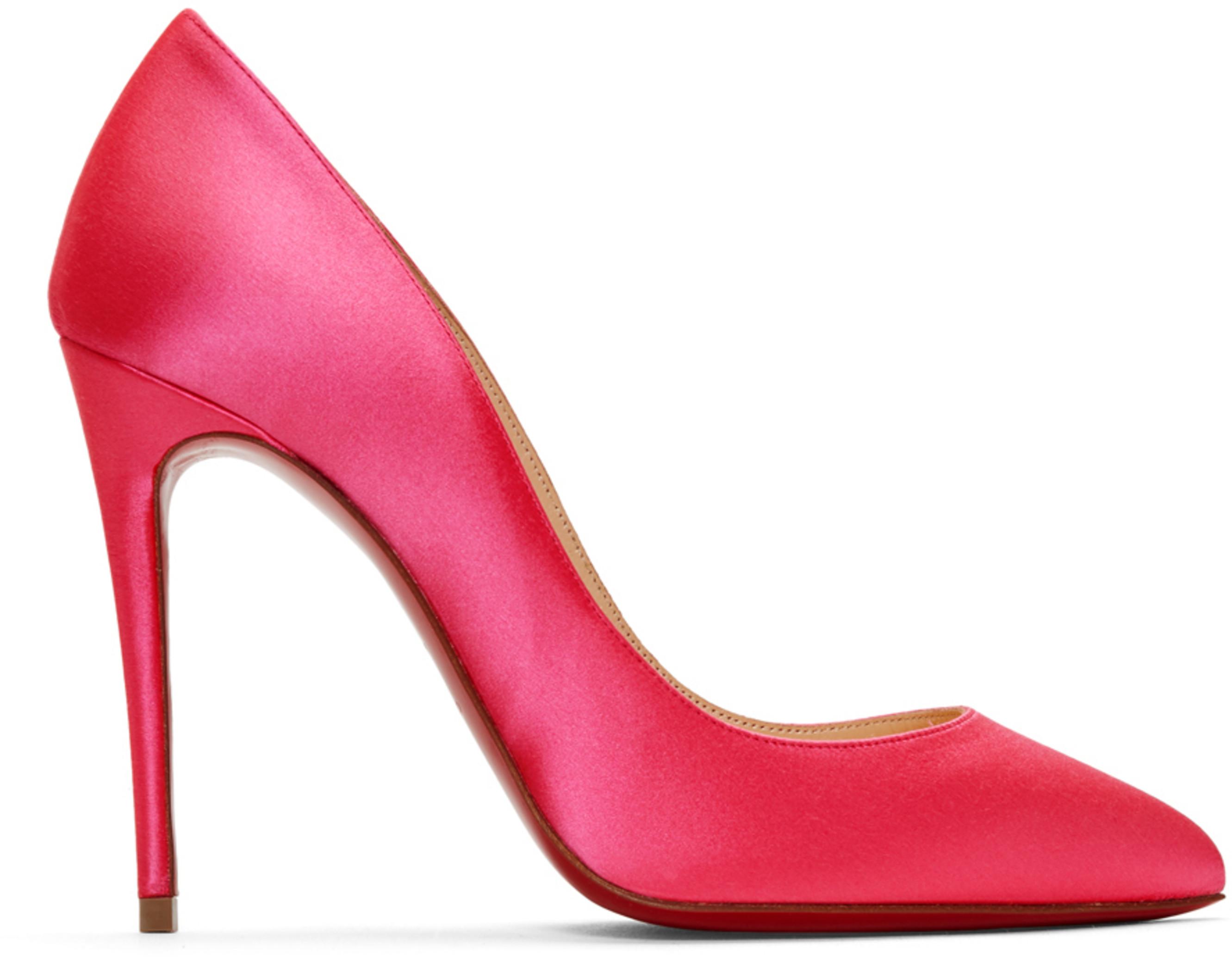 the best attitude 12872 66ec4 Pink Satin Pigalles Follies 100 Heels