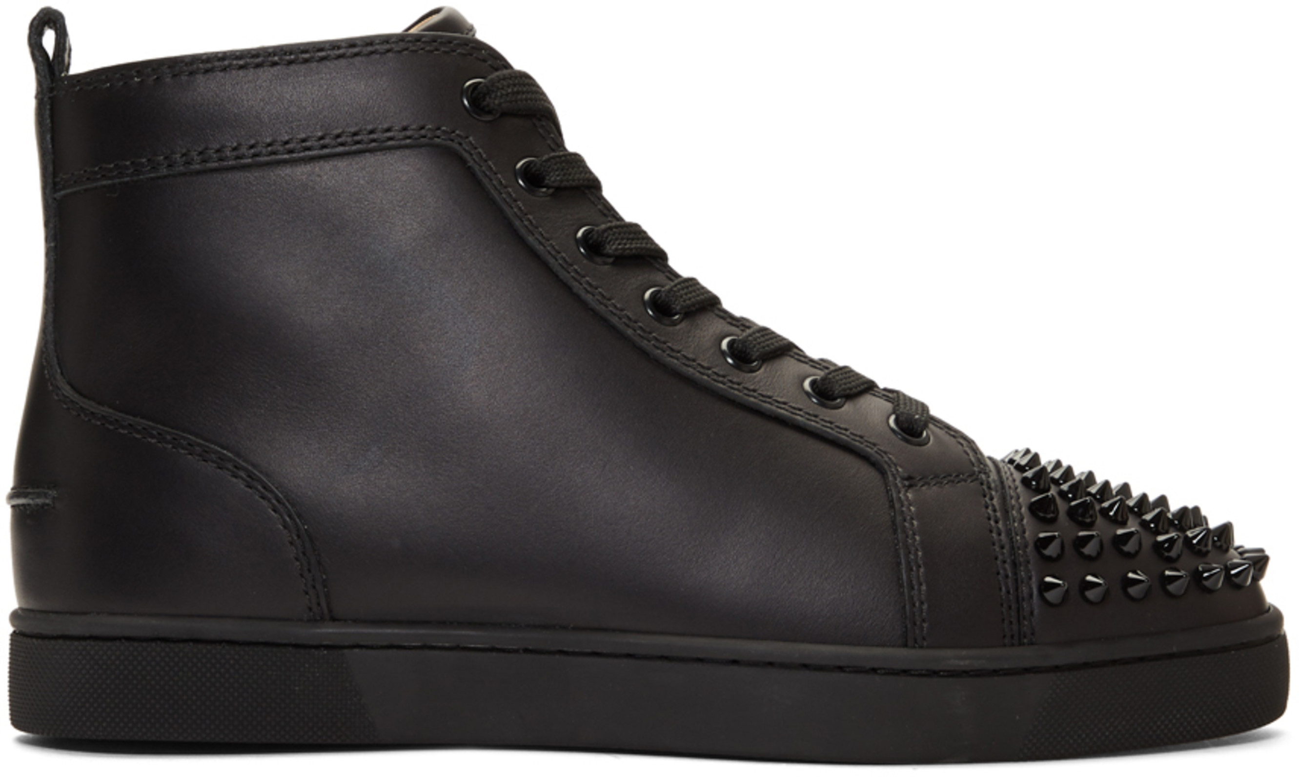 3abfe4a8a9d Black Lou Spikes High-Top Sneakers