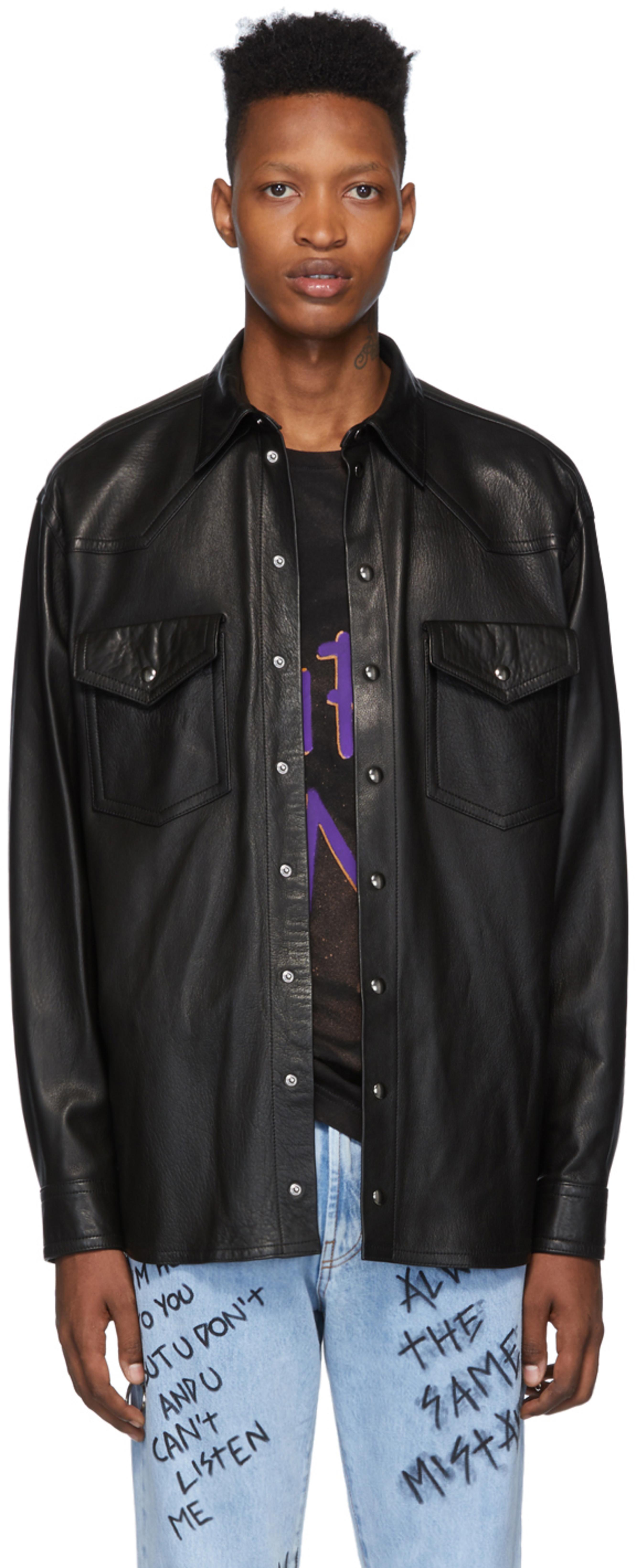 bb09ffdfc Black Lambskin Western Jacket