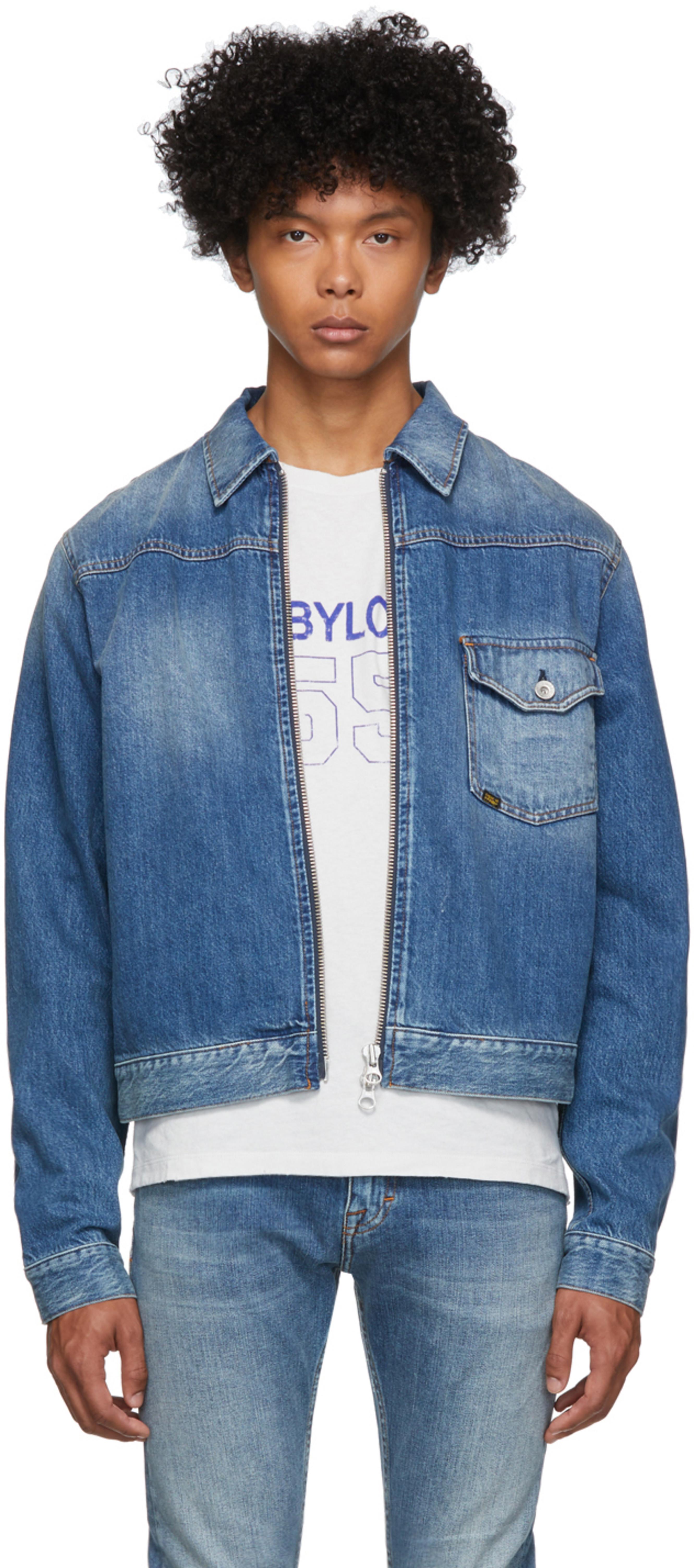3a9e86982 Blue Denim Ry Zip Jacket