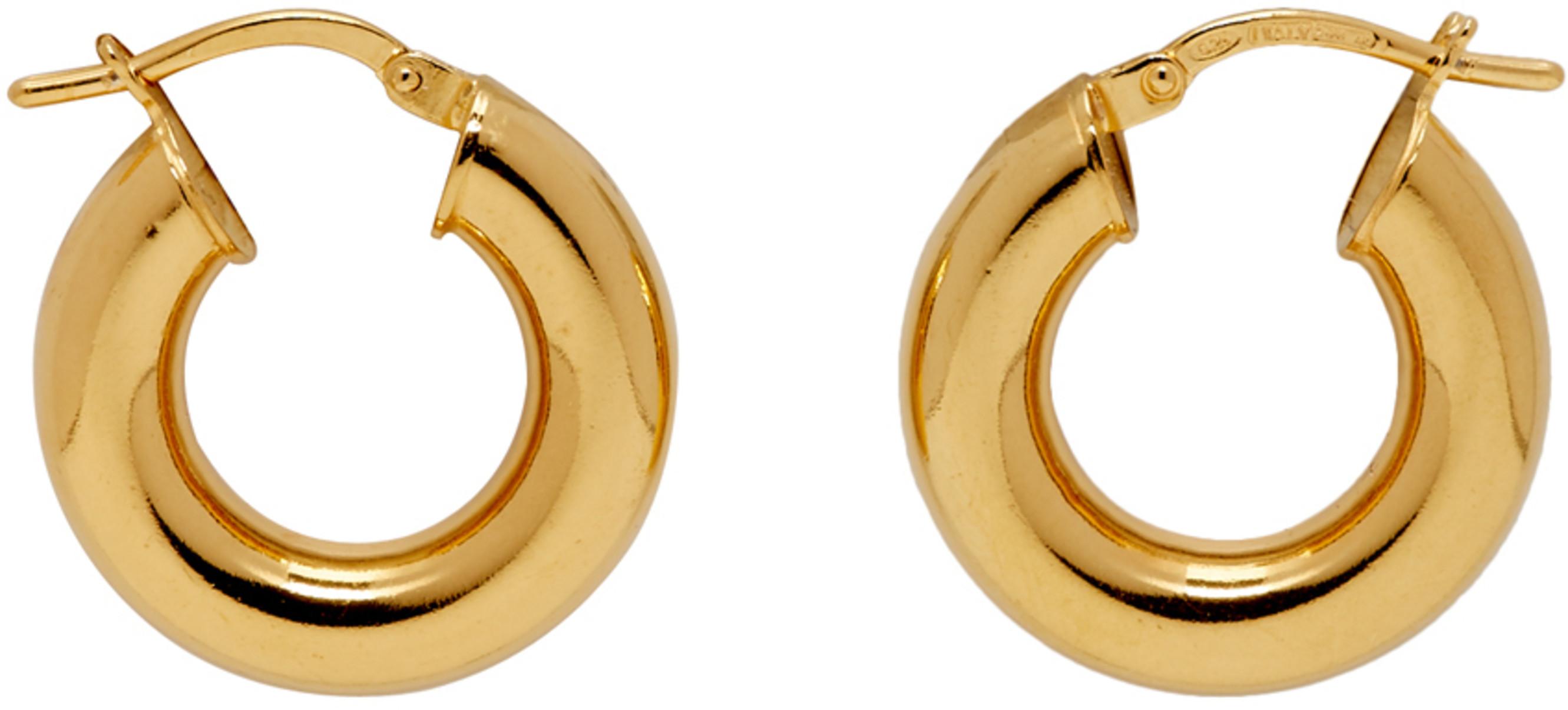 b815d206e6fd7 Gold Tiny Everyday Hoop Earrings