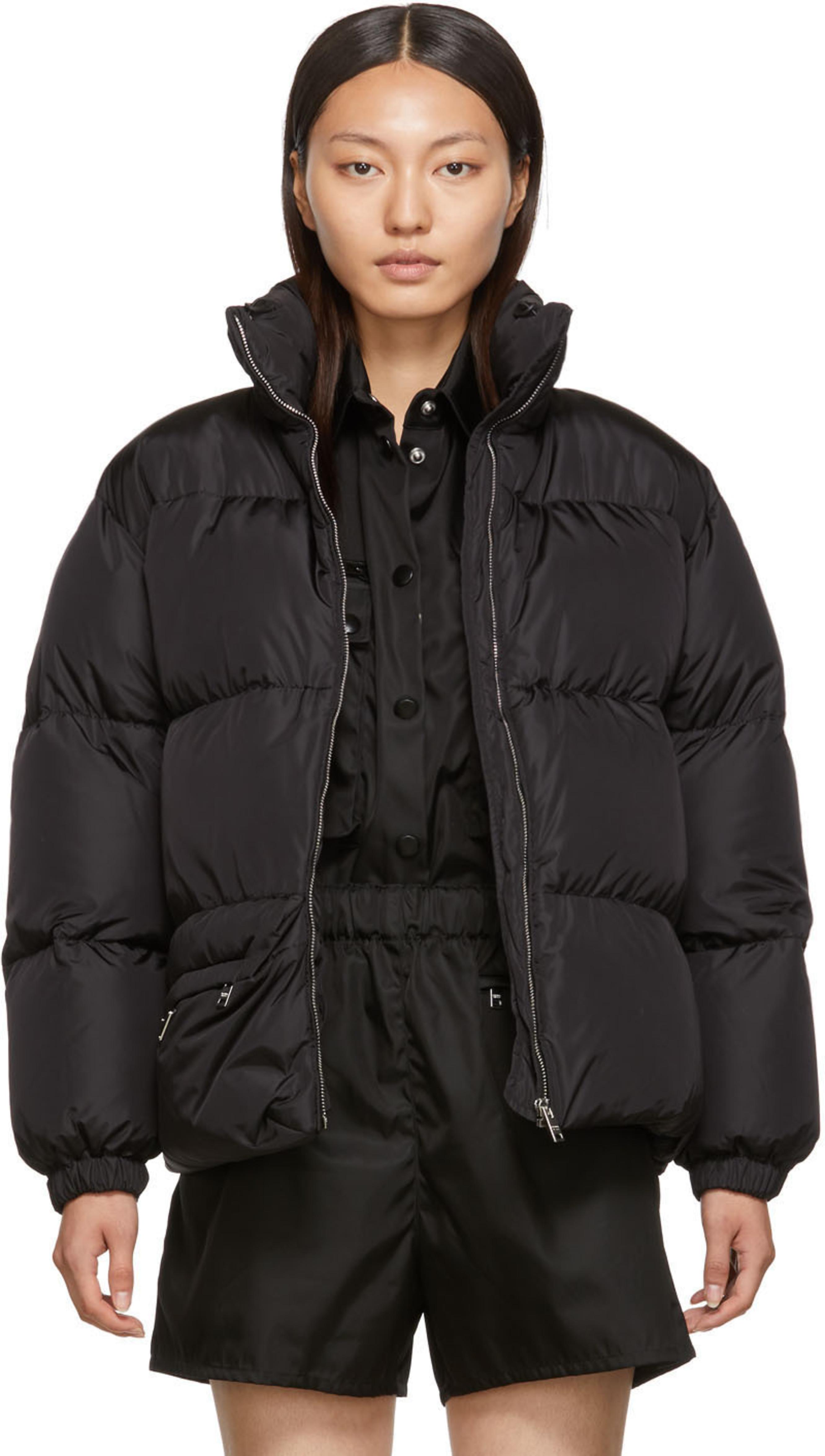 1e7367b678 Black Down Belt Bag Coat