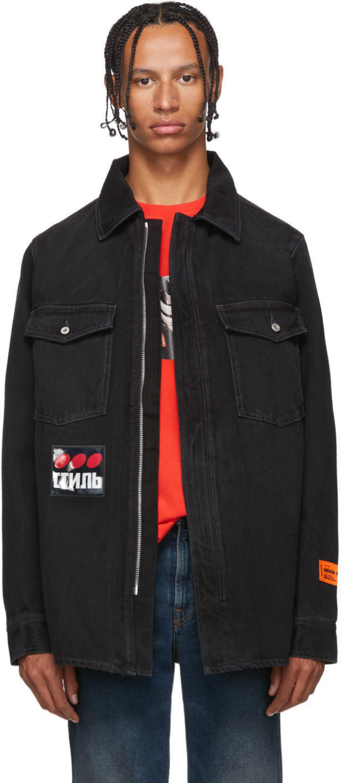 f362a76db Black Denim Dots Shirt