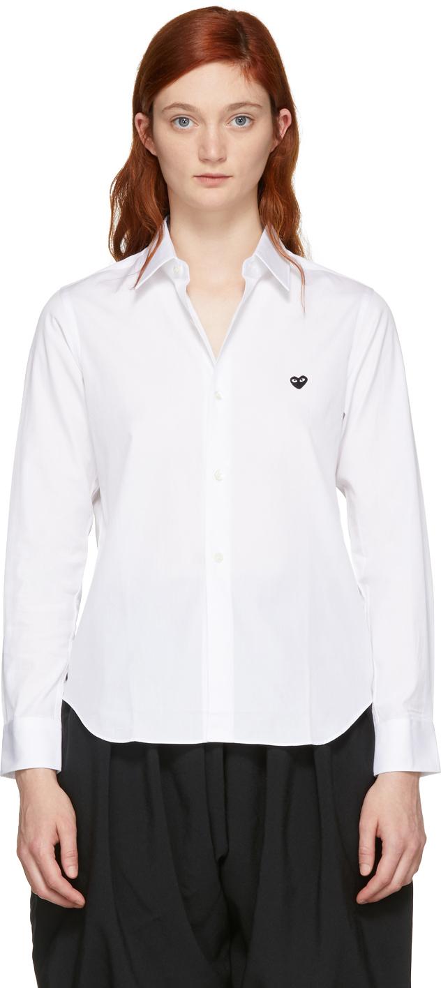 White Small Heart Shirt