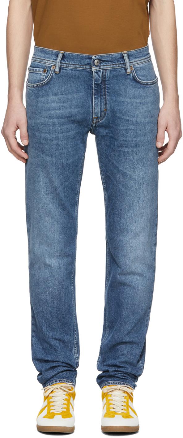 Acne Studios Blue Blå Konst Mid North Jeans 181129M186016