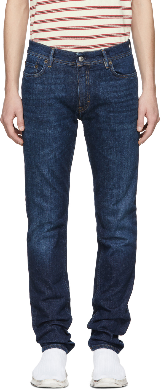Acne Studios Blue Blå Konst Dark North Jeans 181129M186020