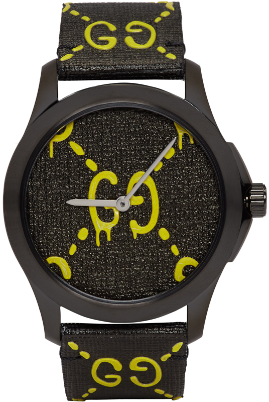 Gucci Black & Yellow G-Timeless GucciGhost Watch