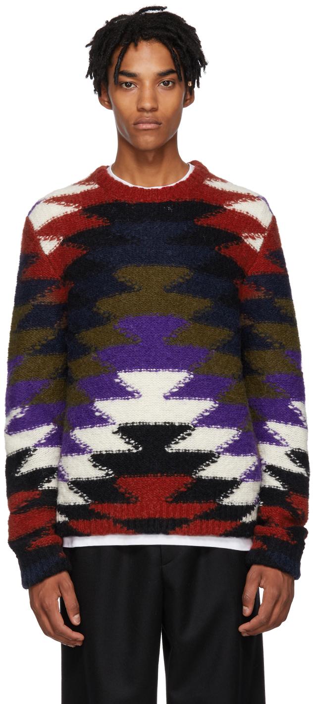 2 Moncler 1952 Multicolor Crewneck Sweater
