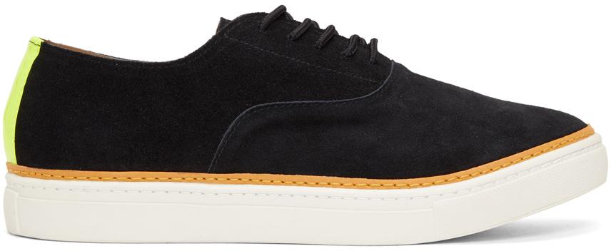 Black Suede Reflector Sneakers