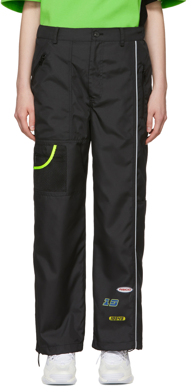 SSENSE Exclusive Black ASCC Panelled Trousers