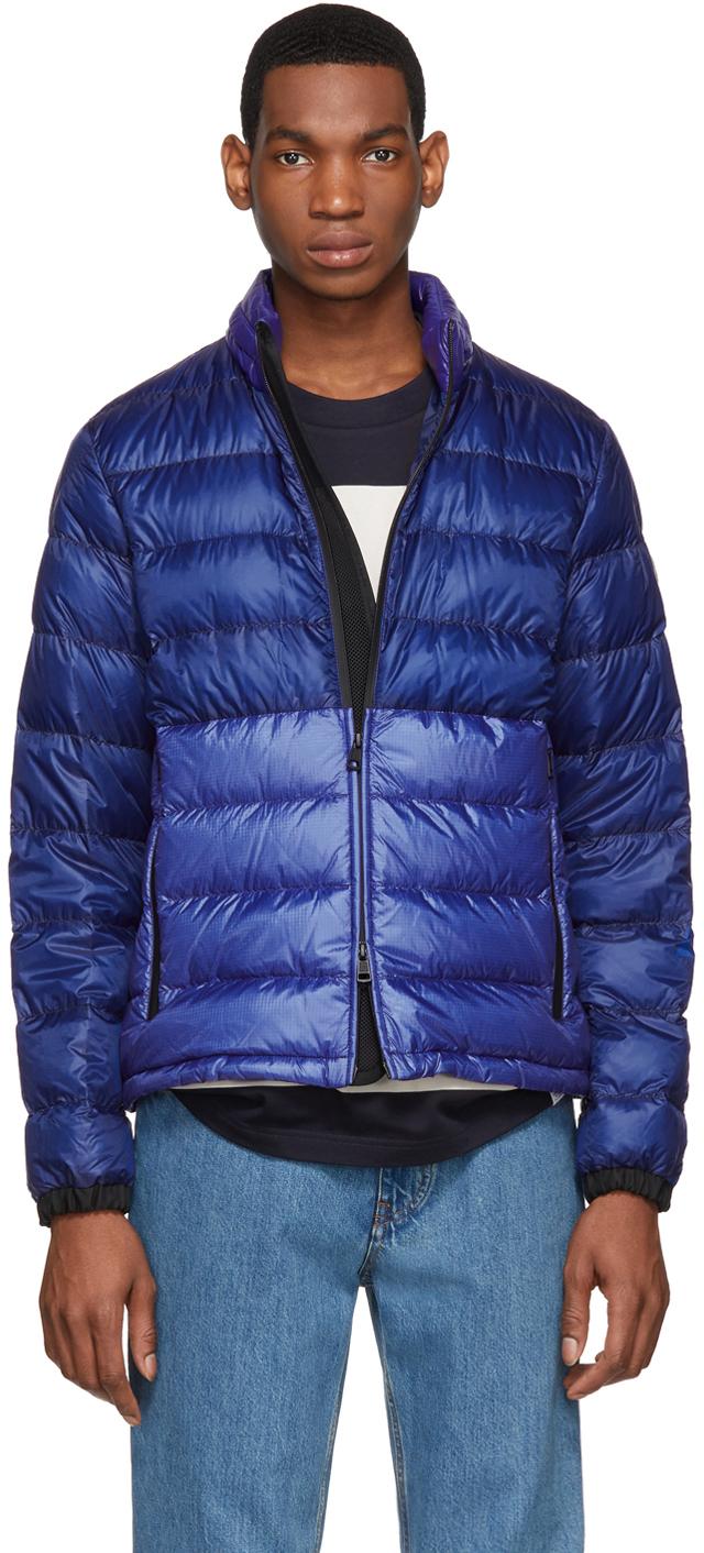 Moncler SSENSE 独家发售蓝色 Aimar 羽绒夹克