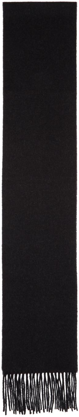 Acne Studios Black Skinny Canada Scarf 191129F028018