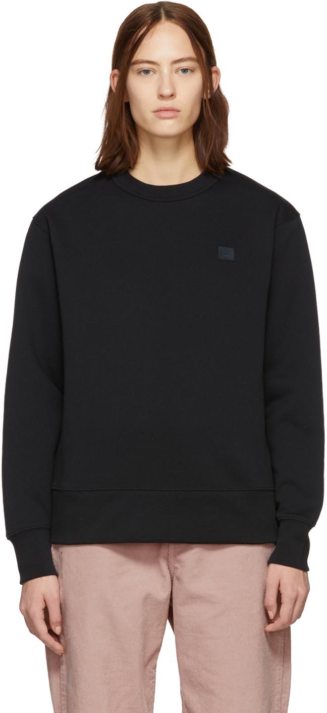 Acne Studios Black Fairview Patch Sweatshirt 191129F098008