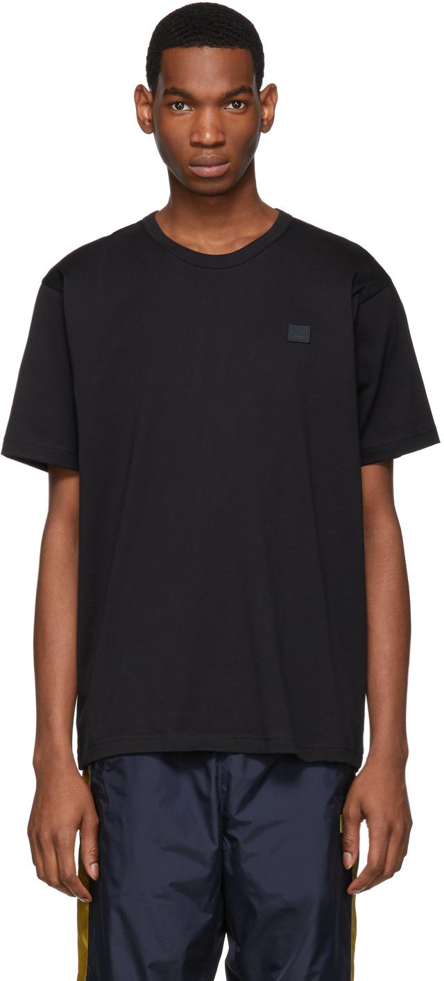 Acne Studios Black Nash Patch T Shirt 191129M213002