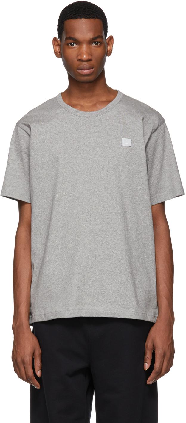 Acne Studios Grey Nash Patch T Shirt 191129M213003