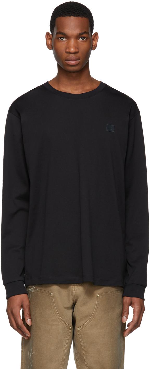 Acne Studios Black Patch Long Sleeve T Shirt 191129M213030