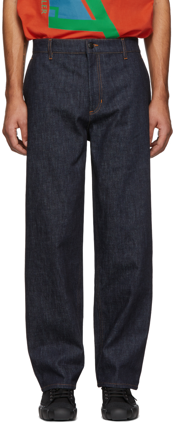 5 Moncler Craig Green Blue Straight Jeans