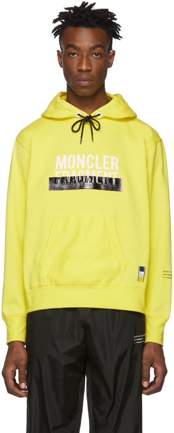 7 Moncler FRGMT Hiroshi Fujiwara Yellow Logo Hoodie