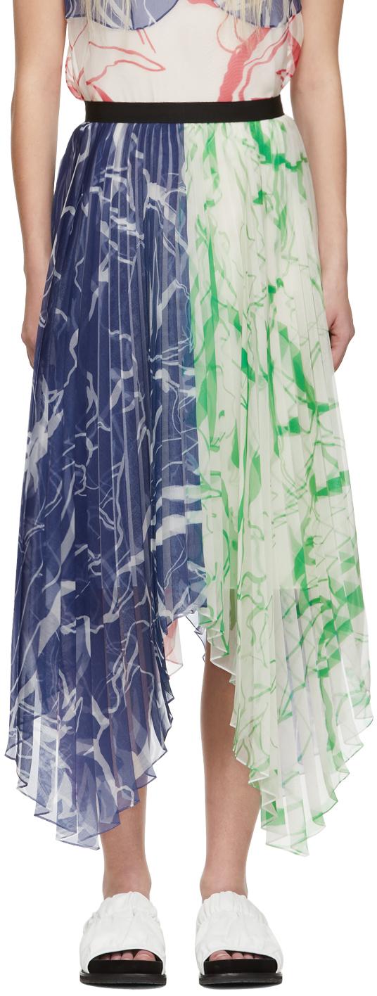 Multicolor Plissé Skirt
