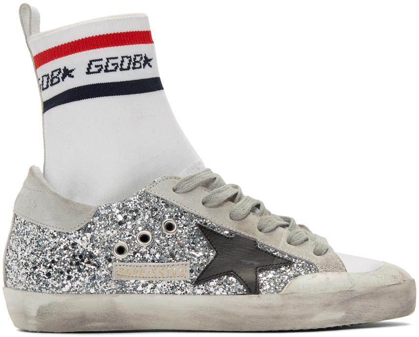 golden goose silver high tops