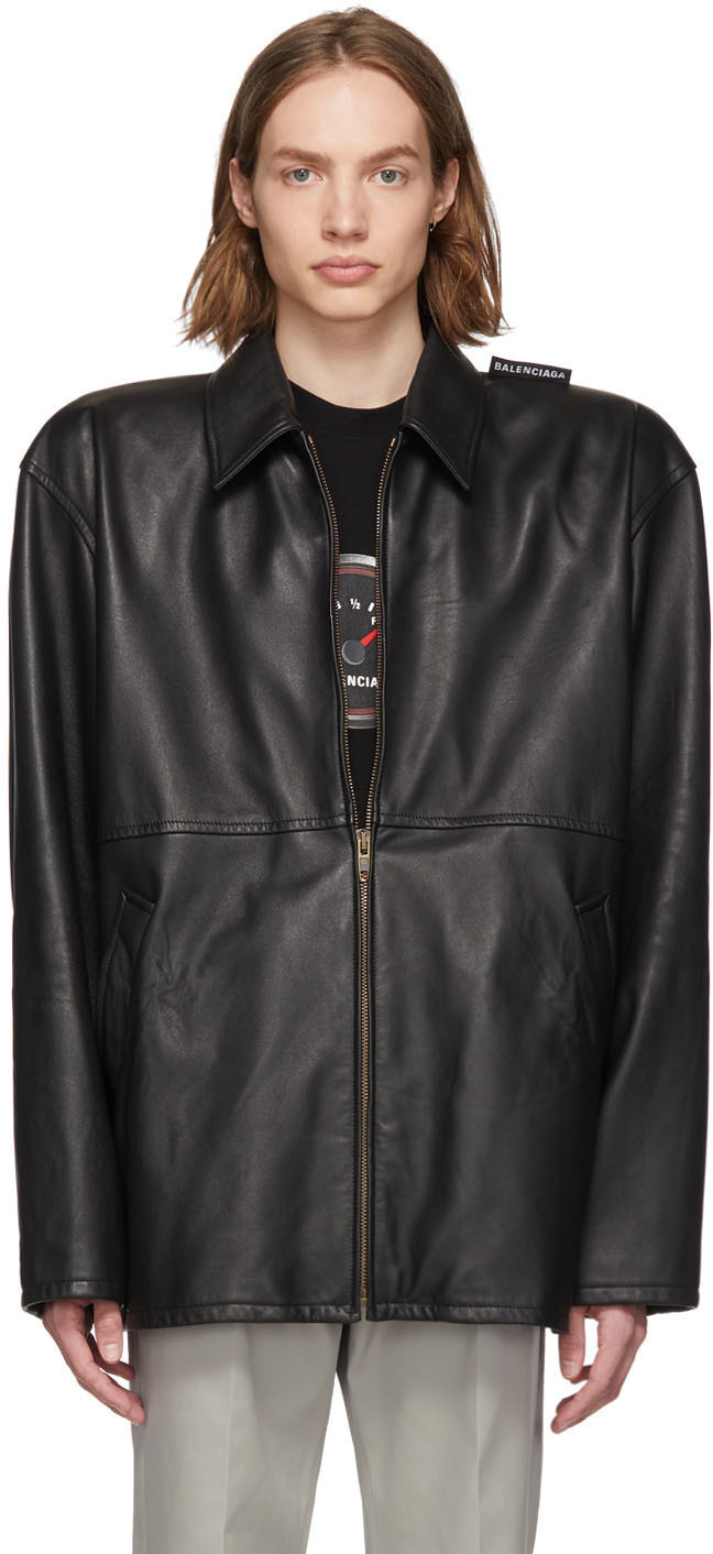 Black Leather Tattoo Jacket by