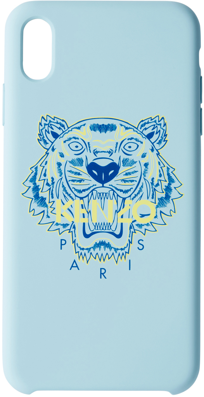 Blue & Yellow Tiger iPhone X+ Case
