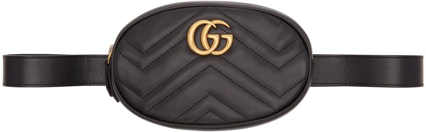 Gucci 黑色 GG Marmont 2.0 腰包