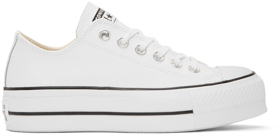 converse white chuck taylor all star lift platform sneakers