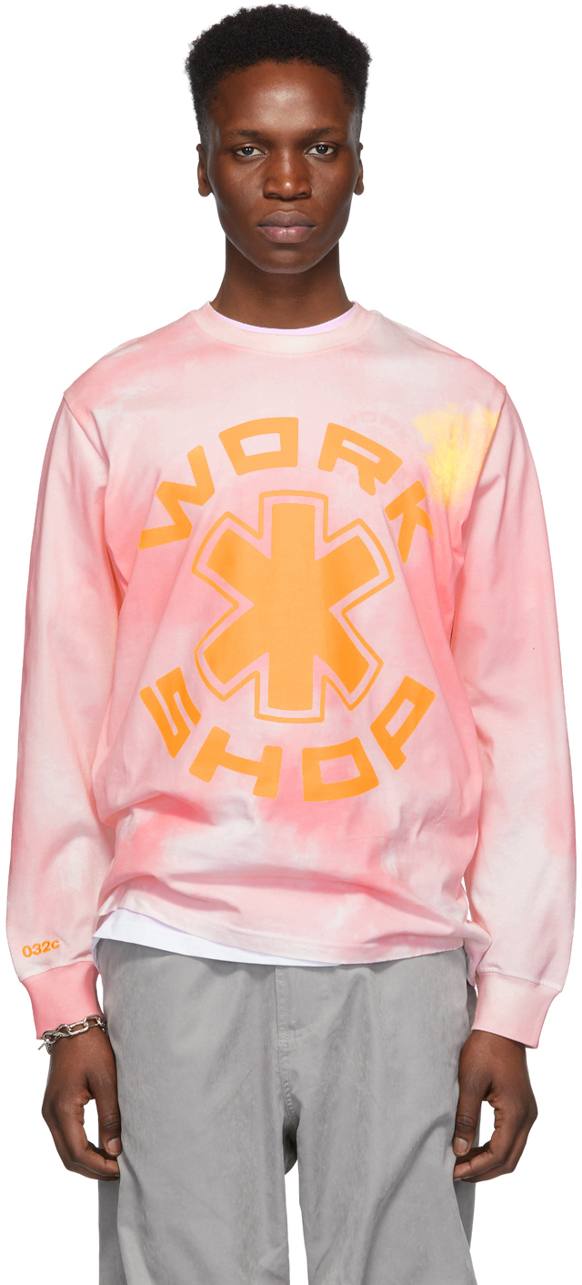 032c Pink Cosmic Workshop Long Sleeve T Shirt 191843M213004