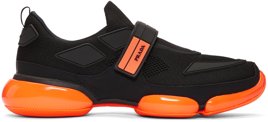 Orange Cloudbust Sneakers by Prada