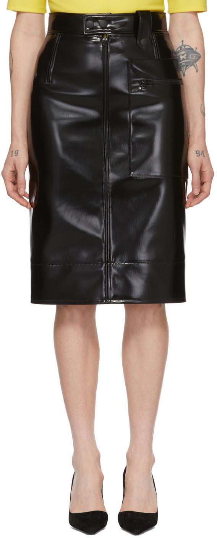 Black Coating Pencil Skirt
