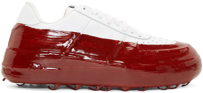 SSENSE Exclusive Off-White \u0026 Red Dipped