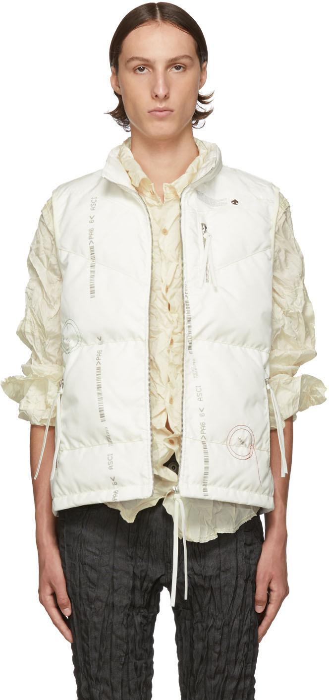 Kanghyuk White Down Readymade Airbag Front Vest