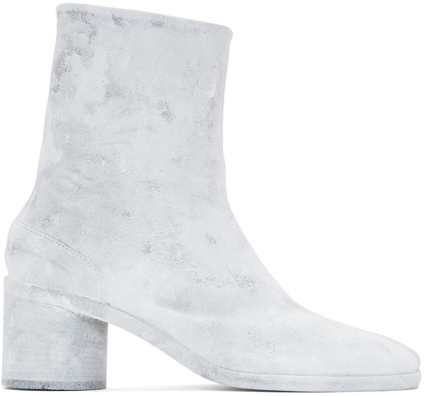 many fashionable good cheaper Maison Margiela: White Bianchetto Tabi Boots   SSENSE Canada