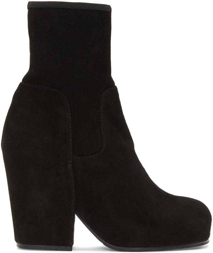 Random Identities 黑色 BO3 绒面革踝靴