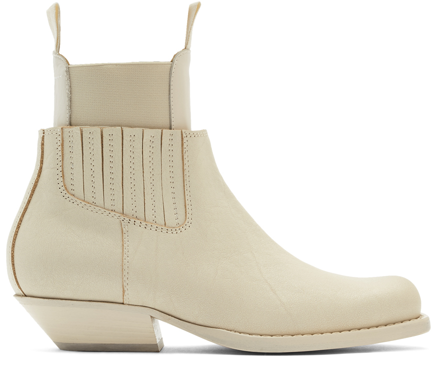 Off-White Cut-Out Double Chelsea Boots