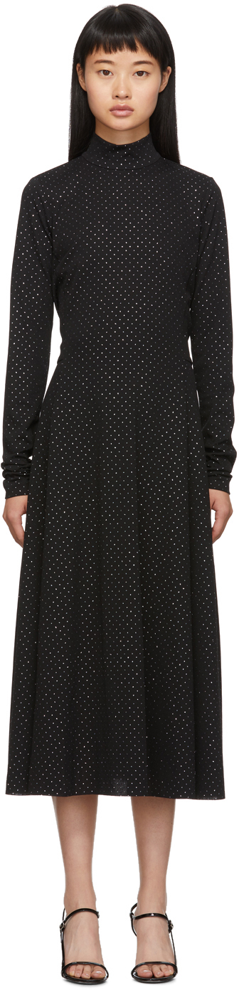 Marc Jacobs 黑色 & 银色高领连衣裙