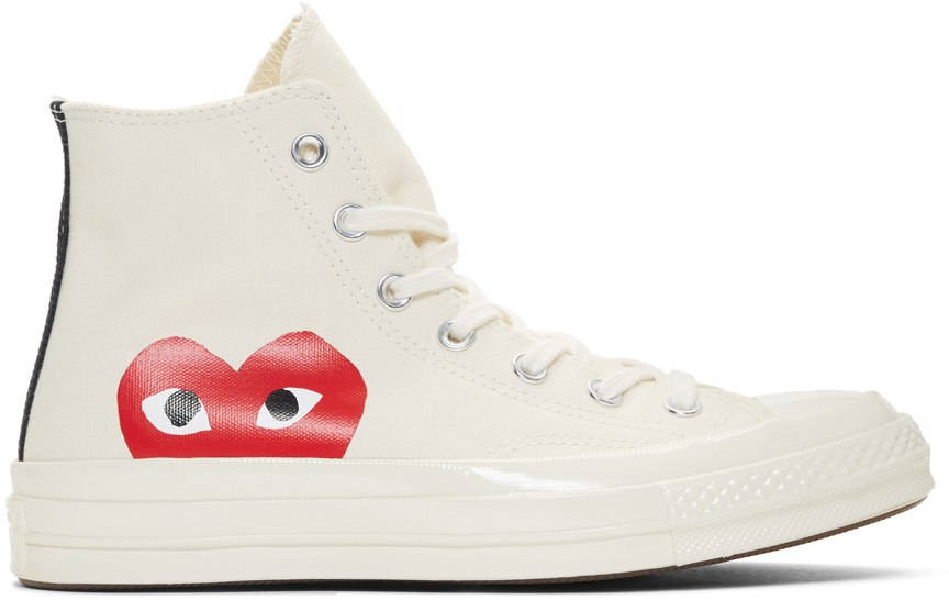 Off White Converse Edition Half Heart Chuck 70 High Sneakers