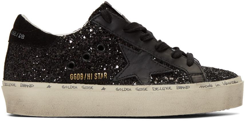Golden Goose: Black Glitter Hi Star