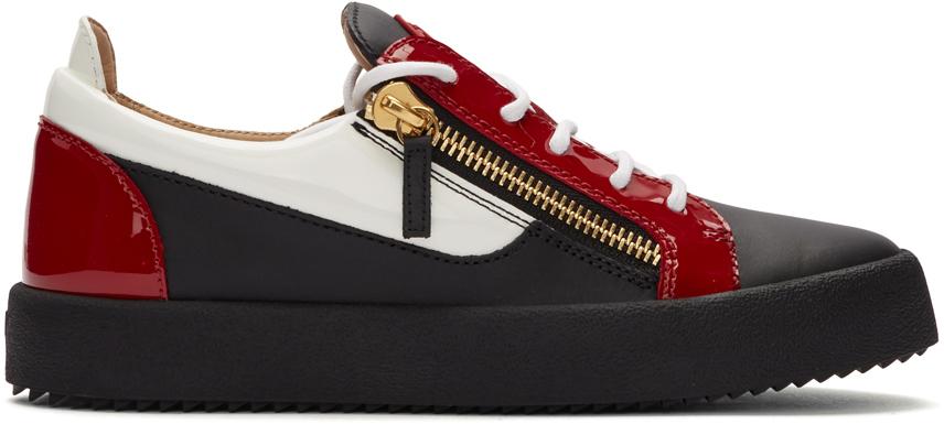 Red \u0026 Black May London Frankie Sneakers