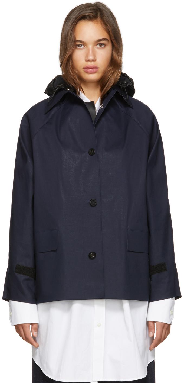 SSENSE Exclusive Navy D-Hip Jacket