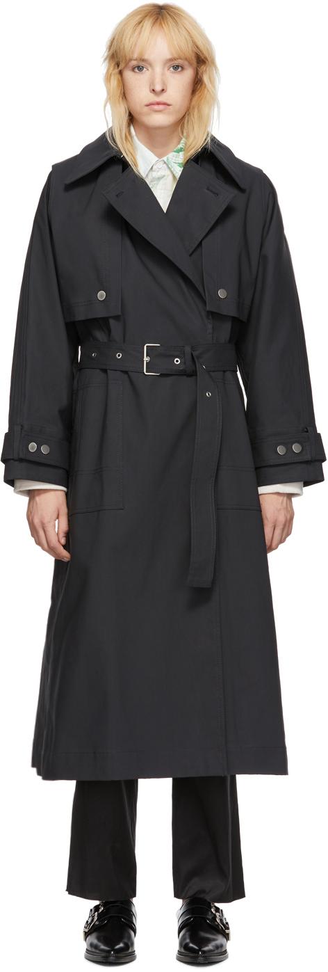 31 Phillip Lim SSENSE Exclusive Black Dolman Sleeve Trench Coat 192283F067001