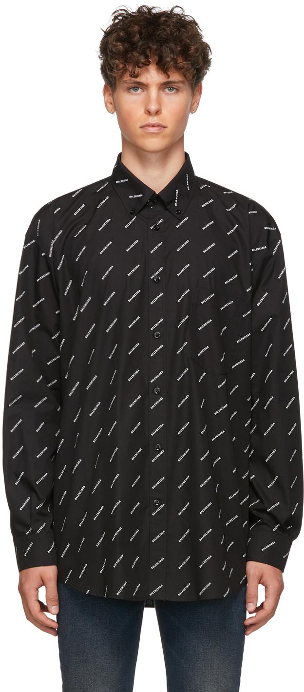 Balenciaga: Black \u0026 White All Over Logo