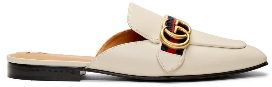 Gucci 白色 Peyton 拖鞋