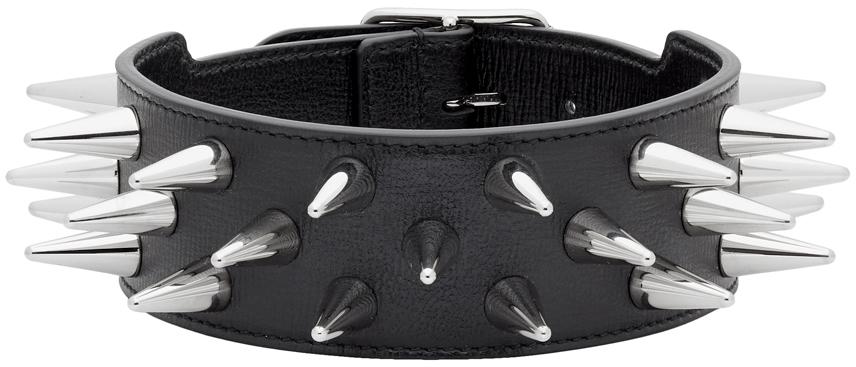 Black Leather Studded Choker