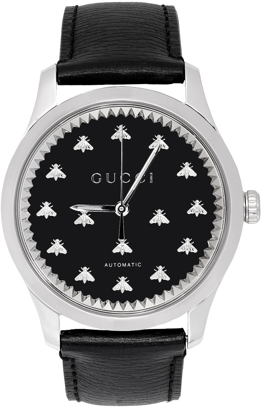 Gucci 银色 G-Timeless 蜜蜂自动手表