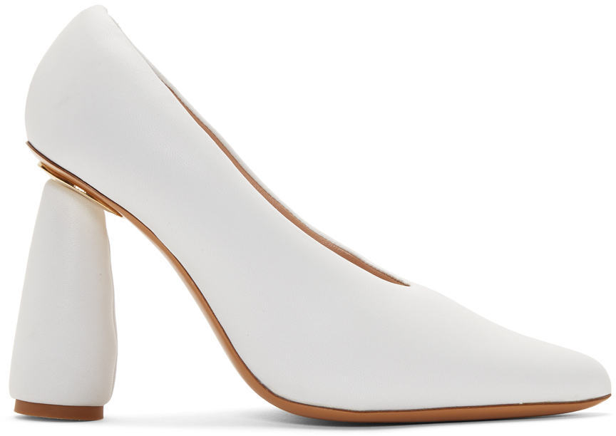 White 'Les Chaussures Jacques' Heels by