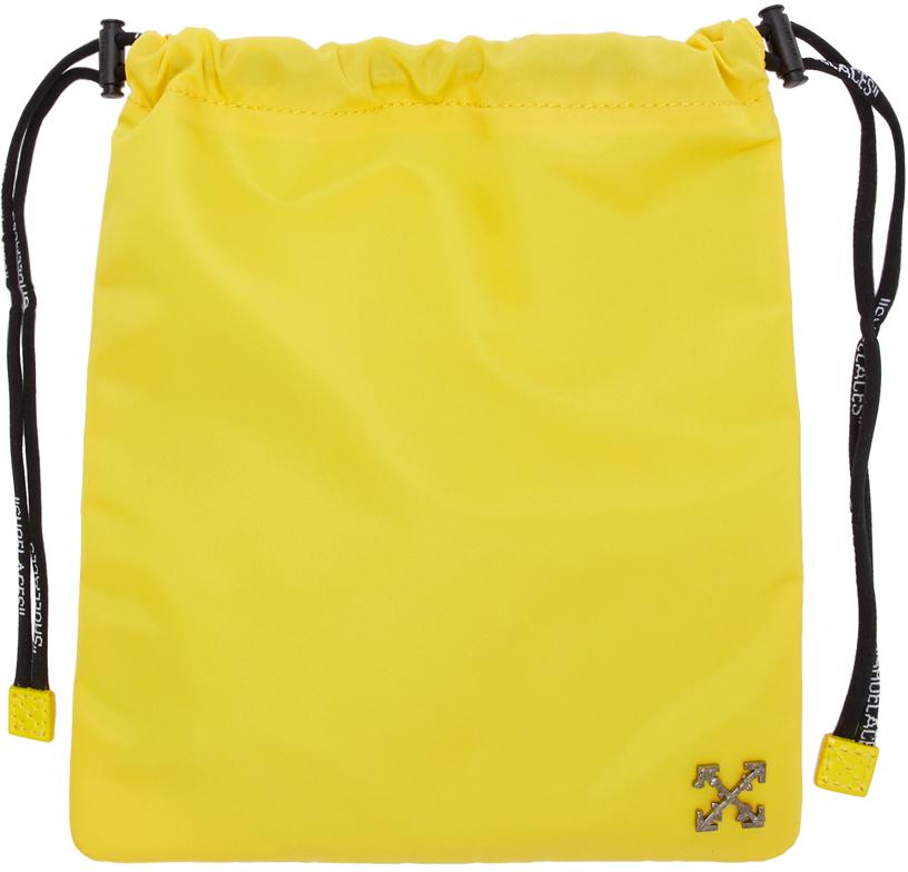 Yellow Nylon Satchel Pouch